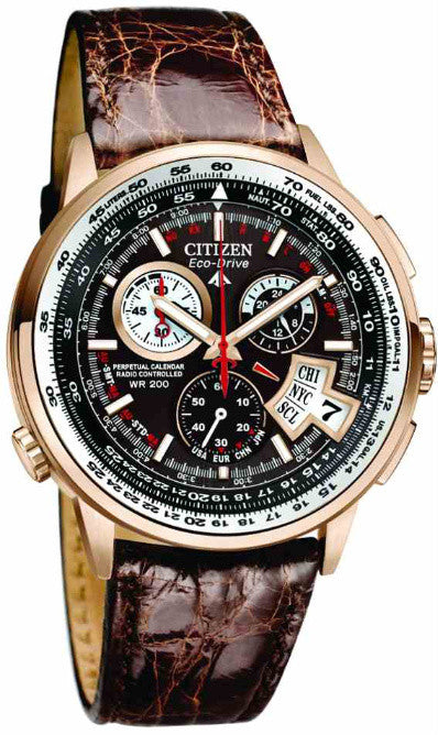 Citizen's Eco-Drive Chrono Time AT, gold version ($895)