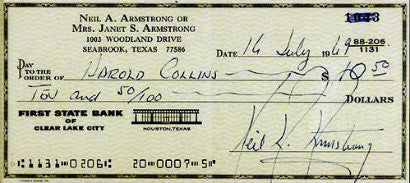 Neil Armstrong cheque