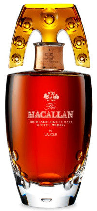 55-year-old Macallan in a specially-designed Lalique crystal decanter