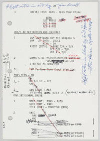 Lovell and Haise's mission notes ($27,450)