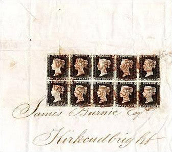 The famous Kirkudbright Penny Black First Day Cover