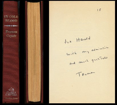 Truman Capote first edition In Cold Blood auction Clutter murders case files