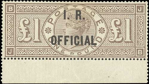 Inland Revenue Official stamp