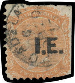 Intestate Estate Southern Australian overprint stamp