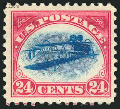 Inverted Jenny 24c Carmine stamp auction