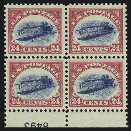 Inverted Jenny block of four
