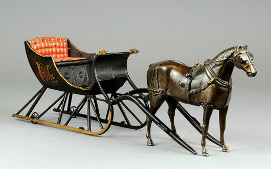 Ives Cutter sleigh toy