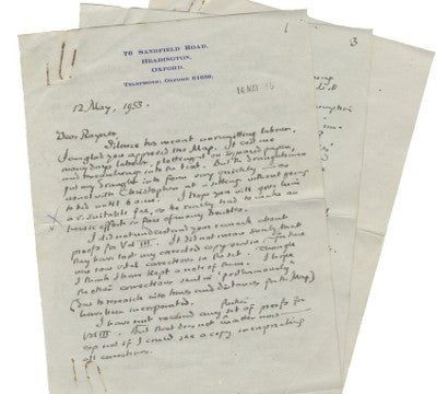 Tolkien signed letter Lord of the Rings