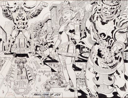 Jack Kirby Argo Lord of Light art auction