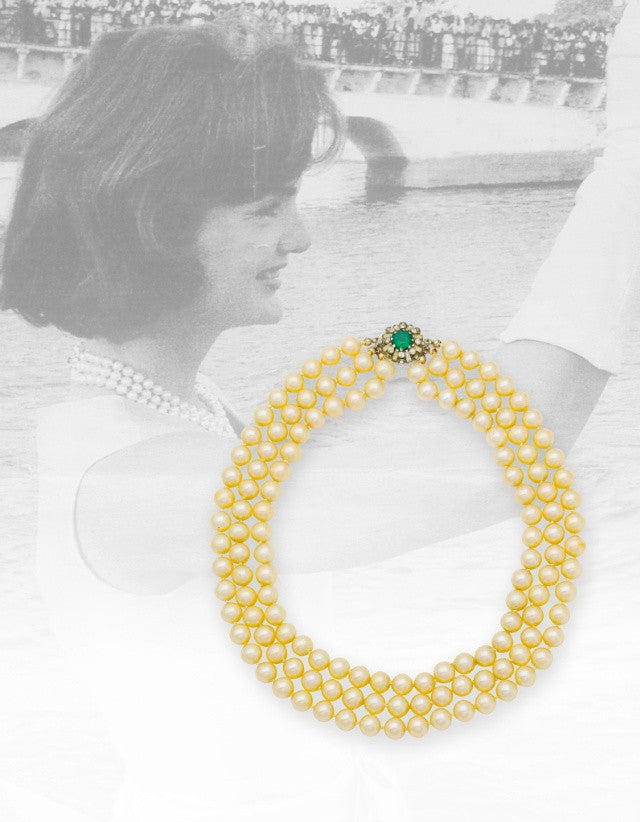 Jackie O Kennedy pearl necklace