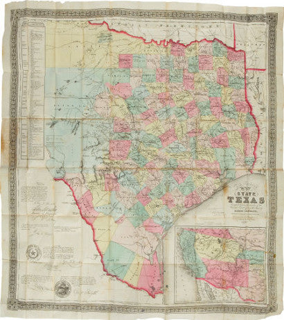 Jacob de Cordova Texas map