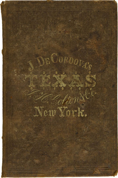 Jacob de Cordova Texas map cover