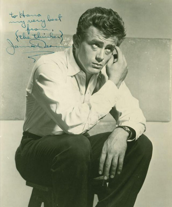James dean signed photo