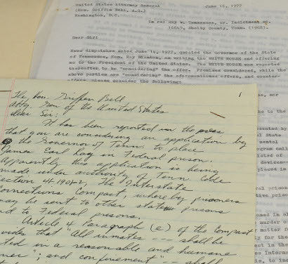 James Earl Ray Kershaw letters