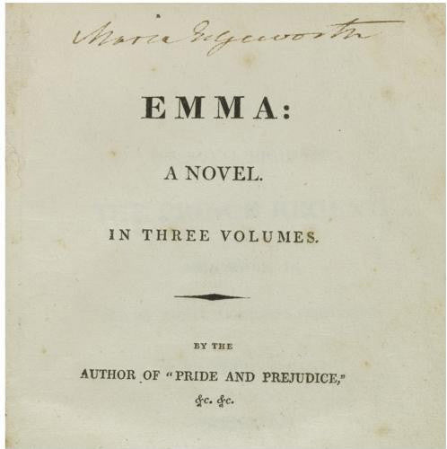 Maria Edgeworth's copy of Jane Austen Emma