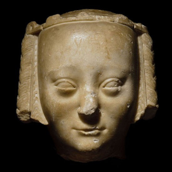 Jeanne de Bourbon head sculpture