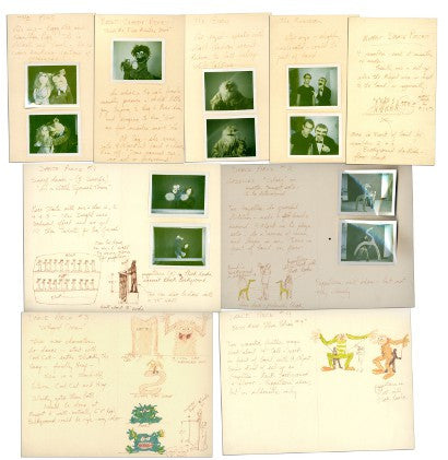 Jim Henson first pitch The Muppet Show drawings