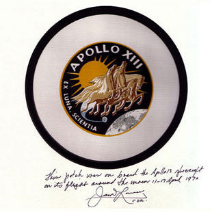 Jim Lovell Apollo 13 XIII badge