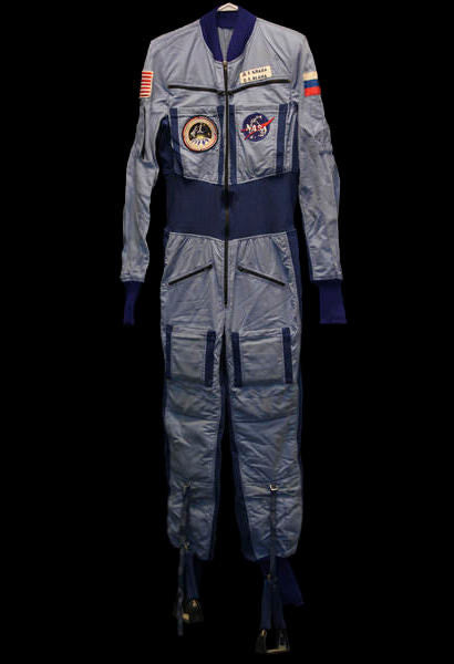John Blaha flown Russian Mir space station suit