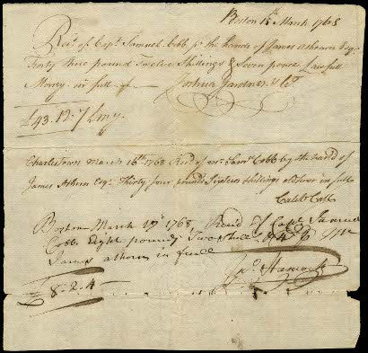 John Hancock autograph document