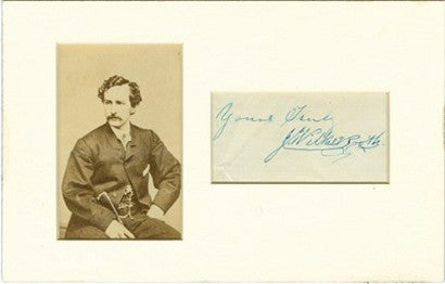 John Wilkes Booth signed photo