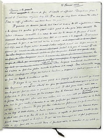 Julien Green Leviathan handwritten manuscript