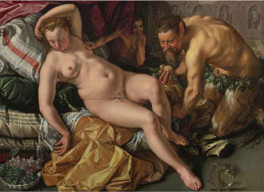 Jupiter and Antiope by Hendrik Goltzius