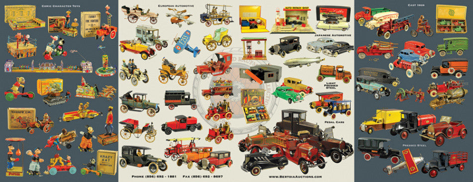 Donald Kaufman toy auction flyer