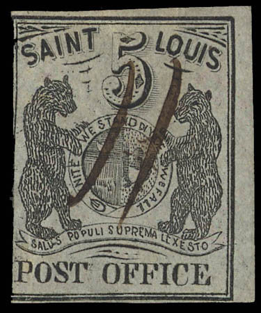 Kelleher St Louis Bear stamp