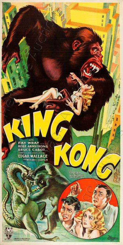 King Kong movie poster auction Style B three sheet