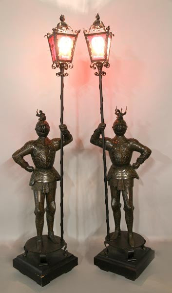 Knight Torchieres pair