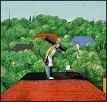 Kurelek Roofers painting