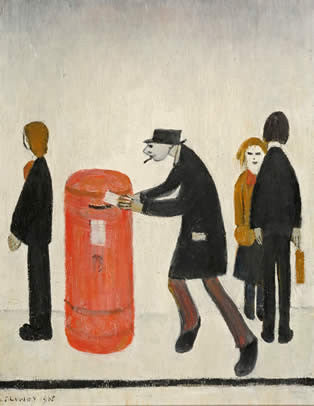 L S Lowry Man posting a letter