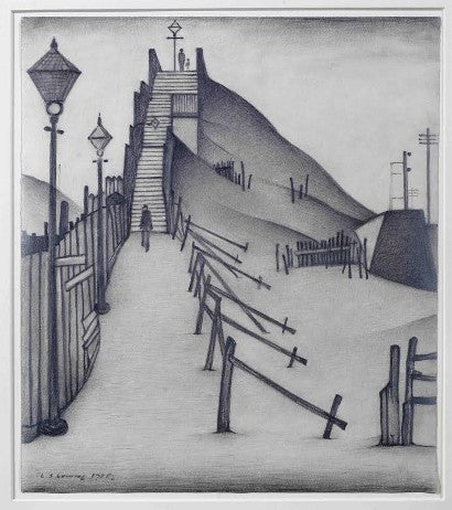 LS Lowry Footbridge drawing