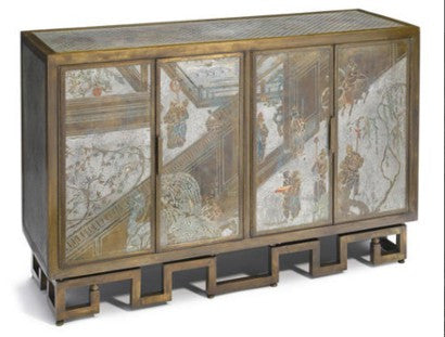 Laverne patinated cabinet