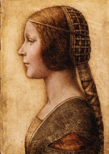 Leonardo's A Young Girl in Profile in Renaissance Dress