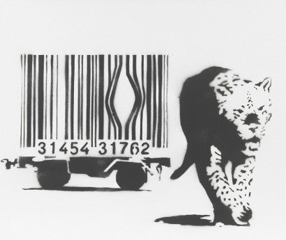 Leopard and Barcode by the anonymous UK artist Banksy410.jpg