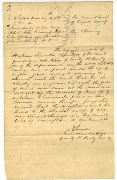 Lincoln judicial letter