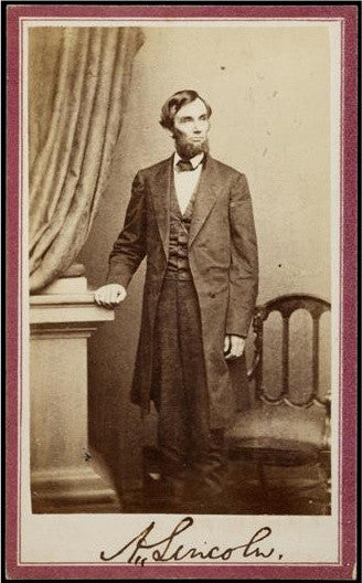 Abraham Lincoln signed photo