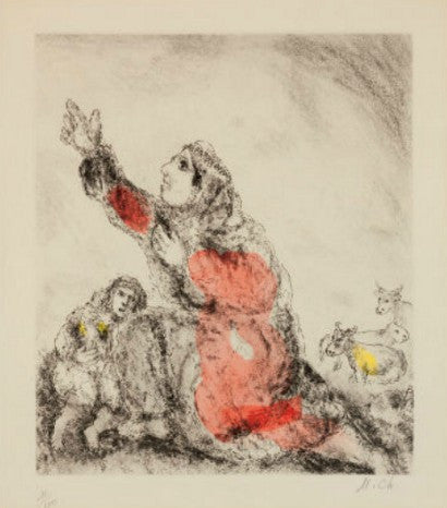 Marc Chagall Le Bible etching print