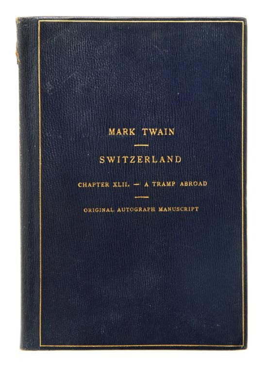 Mark Twain Tramp abroad chapter Switzerland