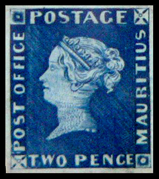 Mauritius Post Office Two Pence stamp