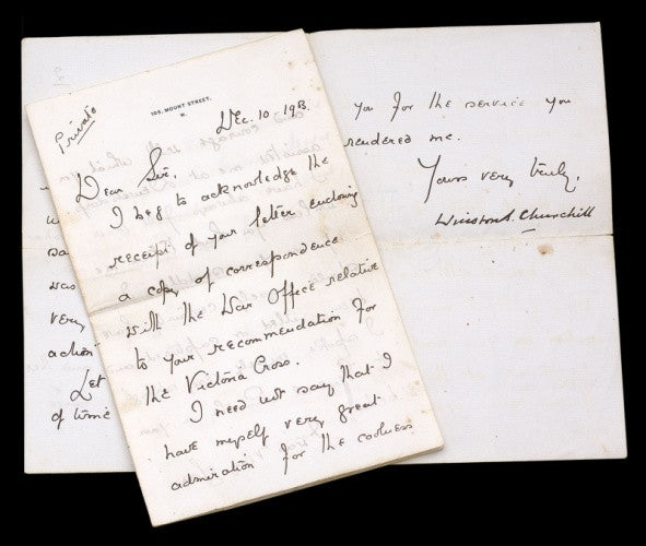 Winston Churchill letter to Roberts