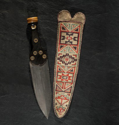 Metis quilled knife sheath