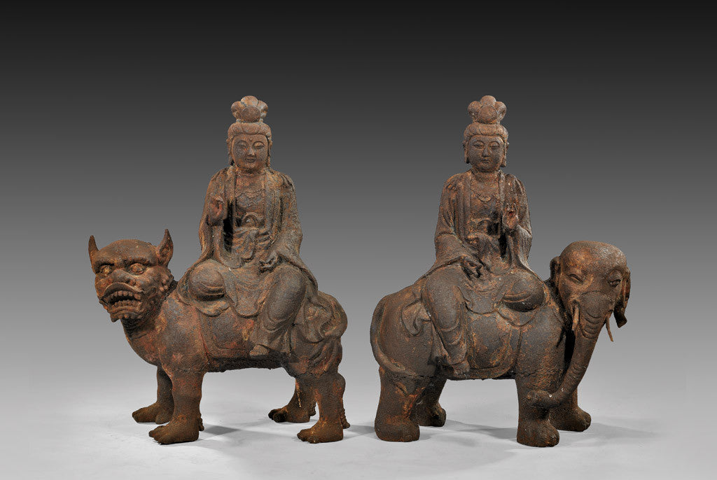 Ming Dynasty iron figures