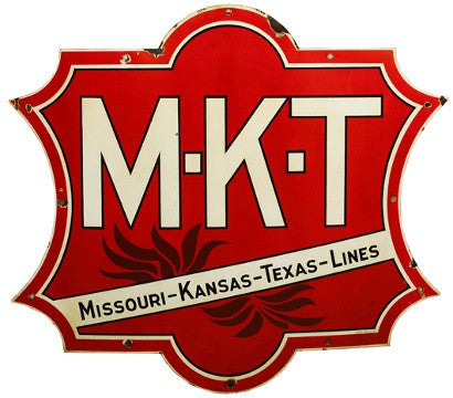 Missouri Kansas Texas line railroad sign