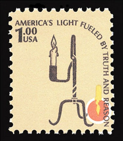 CIA Invert 1979 $1 colonial rushlight stamp