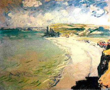 Claude Monet Beach at Pourville