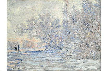 Monet's snow scene auctions with an impressive 46.2% increase on estimate