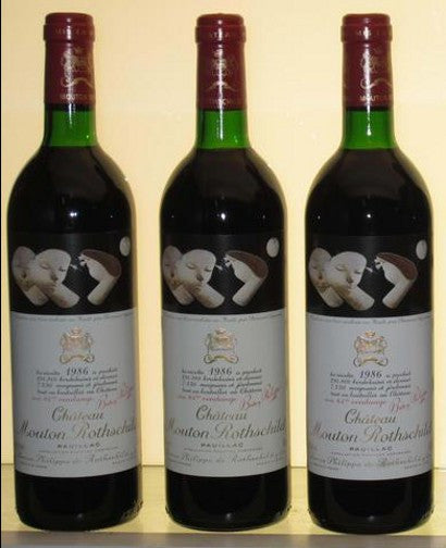 Chateau Mouton Rothschild 1986 artist label bottle